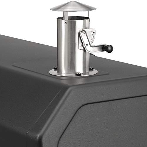 Holzkohlegrill Grand Ontario von EL Fuego® Grill Smoker BBQ Grillwagen Barbecue, mit Thermometer, inkl. Flaschenöffner, mit Warmhalterost und Ascheauffang, AY 572 - 6