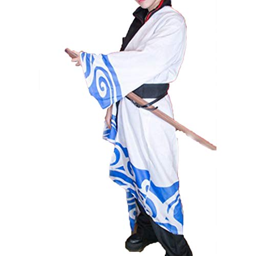 RL Gintama hotv Anime Cosplay Sakata Gintoki cos Halloween Party cos japanischen Kimono kostüm,Full Set-XL