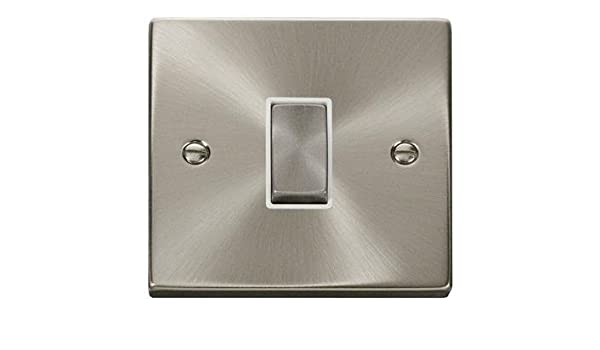 Click Deco Victorian Satin Chrome Switches /& Sockets with Metal Switches 10Y Wty