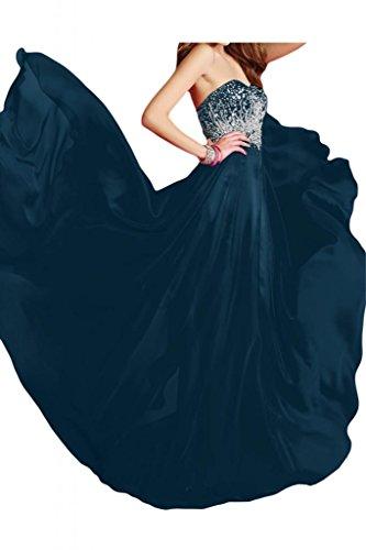 Toscana sposa Modern a forma di cuore Chiffon dal giovane sposa per una serata vestimento party Ball Bete vestimento Tinte Blau