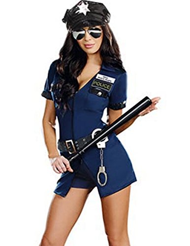 stin Blau Polizei Kostüm Naughty Officer Gr. S 34-36 (Naughty Kostüm)
