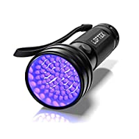 ‏‪UV Flashlight Black Light, 51 LED 395 nM Ultraviolet Flashlight Perfect Detector for Pet (Dog/Cat) Urine, Dry Stains and Bed Bug, Handheld Blacklight for Scorpion Hunting‬‏