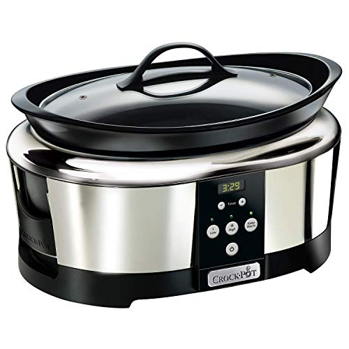 Crock-Pot SCCPBPP605-050 Olla de cocción lenta digital de 5,7L SCCPBPP605, 230 W, 5.7 litros, Acero...