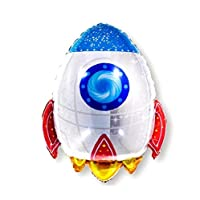 Astronaut Rocket Balloon for Outer Space Planet Themed Party Supplies