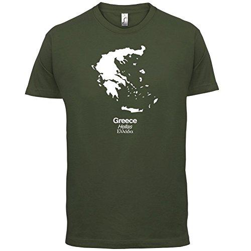 Greece / Griechenland Silhouette - Herren T-Shirt - 13 Farben Olivgrün