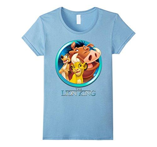 Womens Disney Lion King Best Friends Graphic T-Shirt Medium Baby Blue (Baby T-shirt Womens Blue)