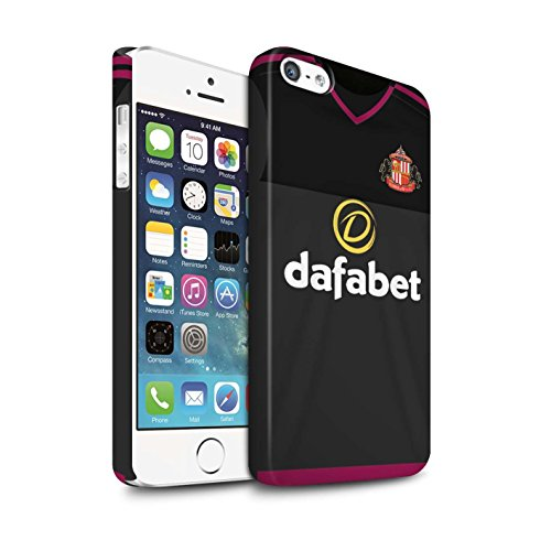 Offiziell Sunderland AFC Hülle / Matte Snap-On Case für Apple iPhone 5/5S / Pack 24pcs Muster / SAFC Trikot Away 15/16 Kollektion Torwart
