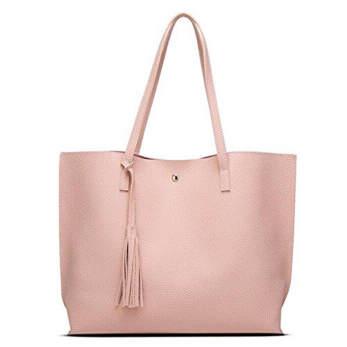 kangrunmy-moda-delle-ragazze-donne-nappe-in-pelle-borsa-bella-spesa-spalla-della-borsa-del-tote-rosa