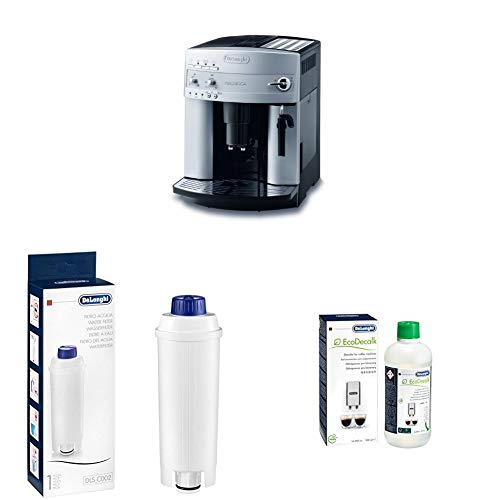 De\'Longhi Magnifica ESAM 3200 S Kaffeevollautomat + Wasserfilter | Zubehör für alle De\'Longhi Kaffeevollautomaten mit Wasserfilter + EcoDecalk Entkalker | Universal Kalklöser für 4 Entkalkungsvorgänge