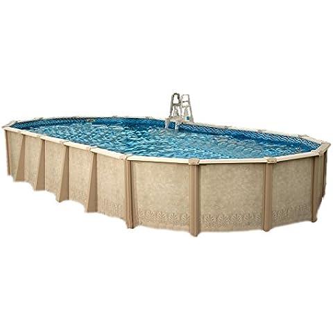 Interline 55000132ovalado Pool sunlake 9,75X 4,90m, profundidad 1,32m (Set Completo 8m³) wasserinh, aprox. 45m³