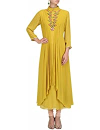 Special Mega Sale Festival Offer C&H Yellow Georgette Semi-Stitched Salwar Suits