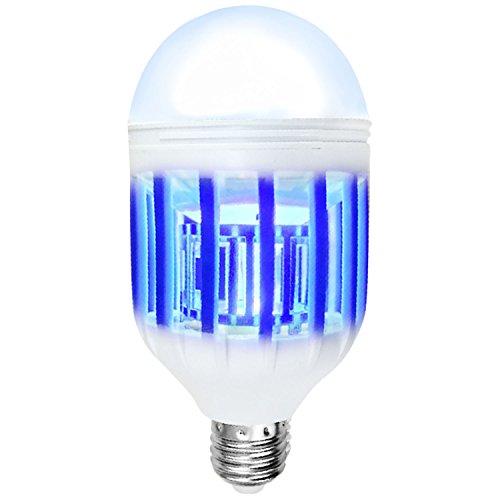 Gosear 2-in-1 Dual Verwenden Elektrische LED Nacht Licht Bug Zapper Licht Glühbirne Mosquito Wasserabweisend Killer Licht 15W Schraube Lamm Base für EU Spannung 220V