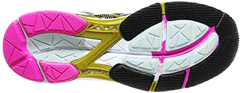 Asics GEL-Noosa Tri 10 GS Synthétique Baskets Black-Gold-Gold Ribbon