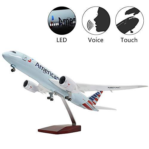 euchtung 1:130 Modellflugzeug American Airline Boeing 787 mit Fahrwerk Flugzeug Geschenk oder Deko ()