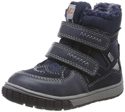 Lurchi Baby Jungen JAUFEN-TEX Stiefel, Blau (Navy 22), 24 EU