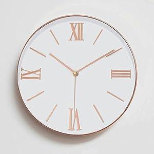 Elegant Toogoo Zoll Universal Leise Nicht Tickende Roemische Ziffer  Dekorative Uhr Fuer Wohnzimmer With Uhren Wohnzimmer