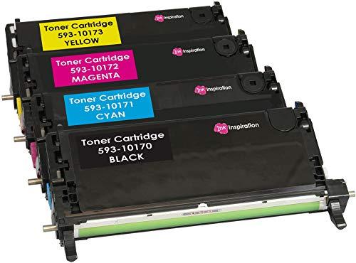 4er Set Premium Toner kompatibel für Dell 3110, 3110cn, 3115, 3115cn | 8.000 Seiten - Dell-3110cn-schwarz-tonerkassette