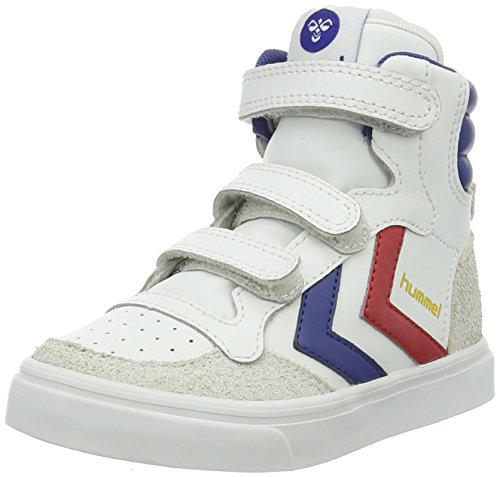 hummel Unisex-Kinder Stadil JR Leather High Top, Weiß (White), 33 EU