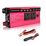 MINLELE Power Inverter Sine Wave-1500 Watt 12V DC to 230V/240V AC Converter-2AC Outlets