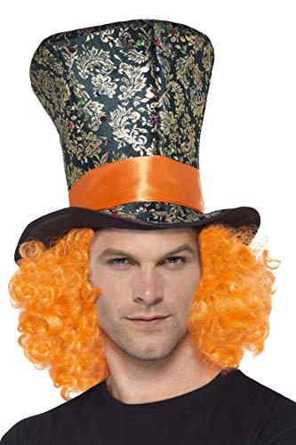 Smiffy's 45216 - Top Hat mit angebrachtem Haar