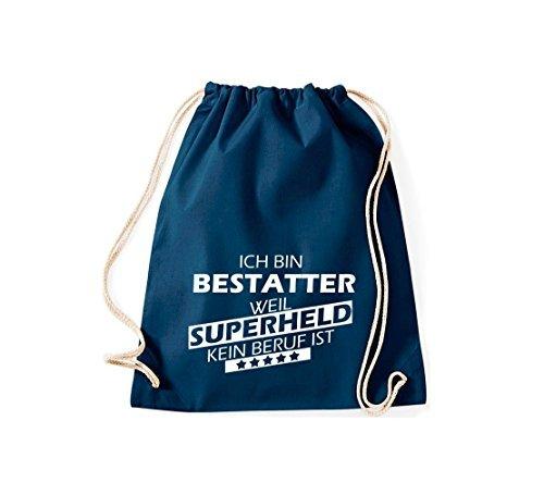 Shirtstown Borse palestra Sono Undertaker, perché Super eroe niente Occupazione è - Viola, 37 cm x 46 cm blu