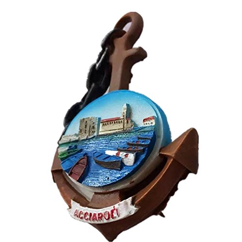 Italien Europa Kühlschrank Magnet 3D Harz Collection Travel Souvenir Tourist Geschenk Haus und Küche Dekoration Kühlschrank Magnet Sticker Acciaroli