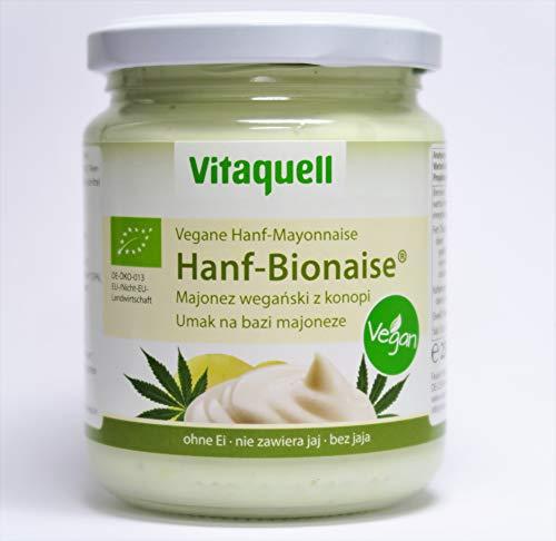 Bio-mayonnaise (Vitaquell Vegane Bio Hanf-Mayonnaise/Bionaise mit 10% Hanföl perfekt zu Burgern oder Pommes)