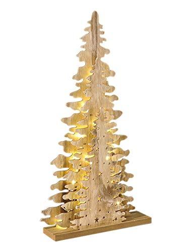 Weihnachtspyramide Tannenbaum LED Holz Holzpyramide Deko Weihnachtsbeleuchtung
