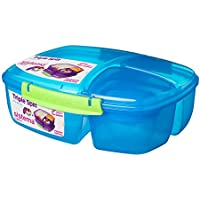 Sistema Lunch Triple Split Lunchbox mit Joghurttopf - 2 L, Blau
