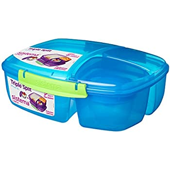 Sistema Purple Large Plastic Kids School Sandwich Lunch