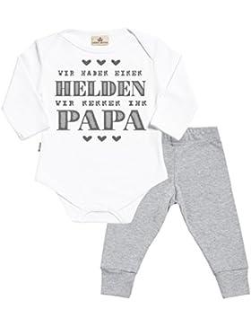 SR - Wir haben einen helden wir nennen ihn Papa Baby Set Baby Strampler & Baby-Jerseyhose - Baby Body & Baby Hosen...
