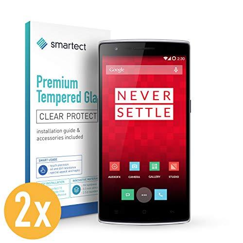 smartect Pellicola in Vetro Temperato per OnePlus One [2 Pezzi] - Pellicola Protettiva con durezza 9H - Salvaschermo Anti-Impronte e Anti-Bolle