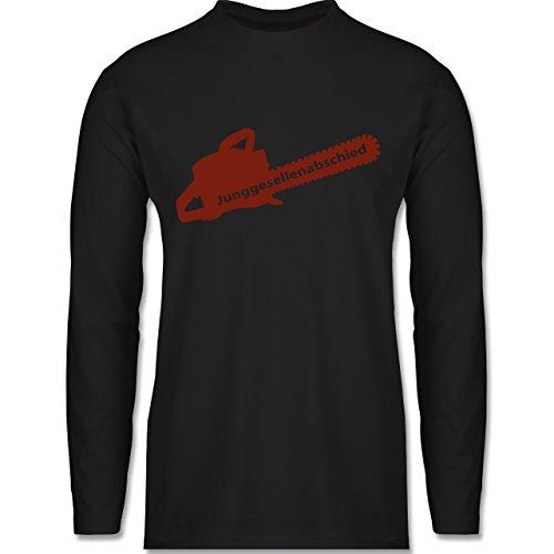 JGA Junggesellenabschied - Kettensäge - Longsleeve / langärmeliges T-Shirt für Herren Schwarz