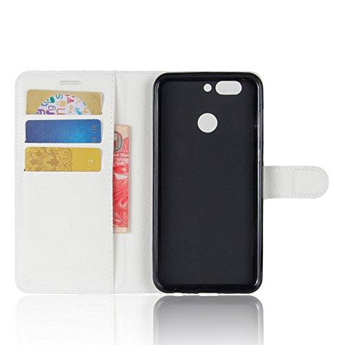 Qiaogle Téléphone Coque - PU Cuir rabat Wallet Housse Case pour Apple iPhone X (5.8 Pouce) - FC04 / Rouge Classique Mode affaires Style FC03 / Blanc Classique Mode affaires Style