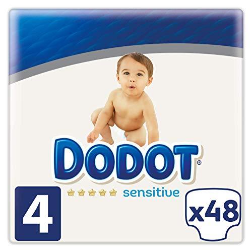 Dodot Sensitive - Pañales Talla 4, 48 Pañales, 9-14 kg
