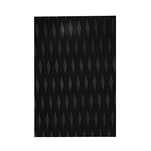 Sharplace Surfboard Traction Pad Deck Grip Tail Pads - Schwarz