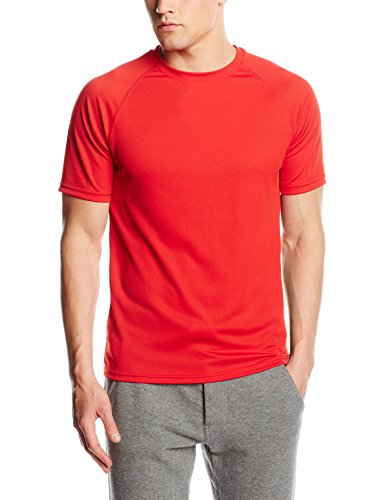 Fruit of the Loom Herren T-Shirt Ss074m Rot - Rot
