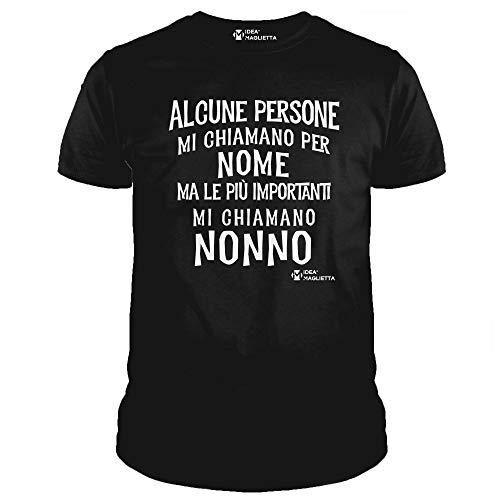Ideamaglietta no0003u maglietta uomo alcune persone mi chiamano per nome ma le più importanti mi chiamano nonno idea regalo festa del papà natale (xxl, nero)