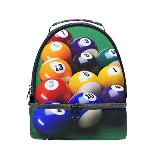 Schulter Double Lunch Bag Billard Kugeln Kühler verstellbarer Gurt für Picknick