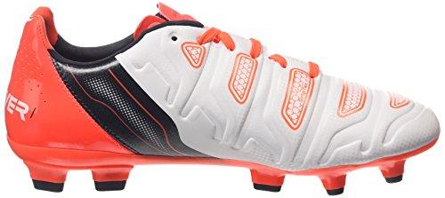 Puma Evopower 1.2 Fg Jr, Chaussures de Football mixte enfant Blanc (white-total Eclipse-lava Blast 02)
