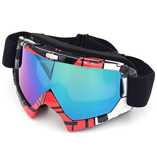 AmDxD TPU+PC Schutzbrillen Staubdicht Motorradbrillen Radsportbrille Skibrille Winddicht Outdoor Schutz Brille für Skifahren Schneemobil Motorrad Fahrrad, Blumen Farbe