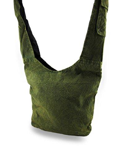 Things2Die4, Borsa a tracolla donna Taglia unica Green