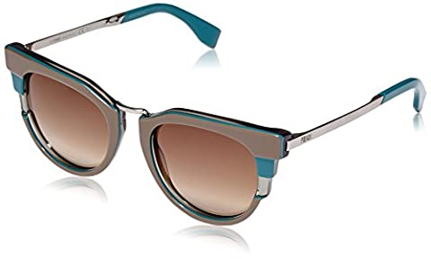 Fendi Women's FF 0063/S DB Cateye Sunglasses, (Fendi Occhiali Da Sole)