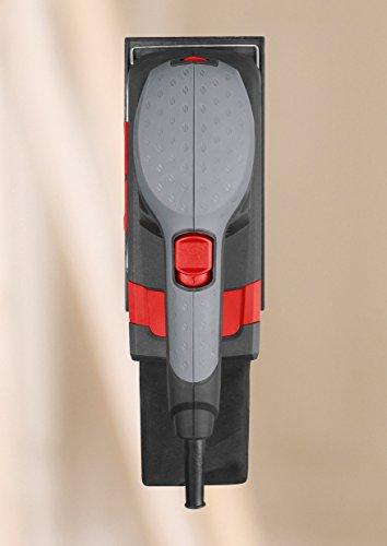 Skil Schwingschleifer 7348 AA (160W, 92 x 185 mm, Variable Drehzahl, Klett- und Klemmsystem, Staubsauger-Anschluss + Staubbeutel, +3 tlg. Schleifpapierset)