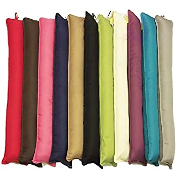 2 Colour Options Grey URBNLIVING Draught Excluder Fabric Pillow Cushion Foam Seal Strip Insulation Draft Stopper