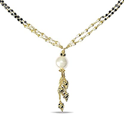 P.N.Gadgil Jewellers Lavanya Collection 22k (916) Yellow Gold Mangalsutra Necklace