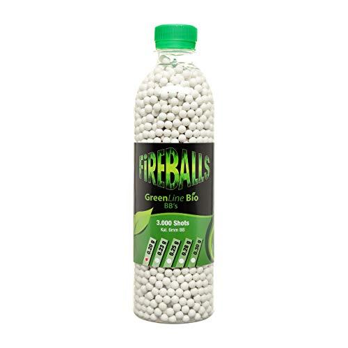 FireBalls Bio Softairkugeln Green Line 0,25g weiß, 3.000 Stück Flasche