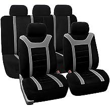 FH GROUP FB070GRAY115 Set de fundas de asientos para automóviles deportivos, multifuncionales, color gris, 11 piezas