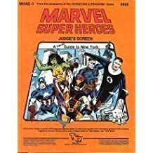 Marvel Super Heroes Judge's Screen: A Hero's Guide to New York (MHAC1) by Jeff Grubb (1984-06-03)