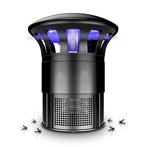 ZTMN Moskito-Mörder-Lampe Innen Saugtyp Mute LED-Lichtquelle physikalische 360-Grad-Einfassung Anti-Moskito, schwarz, 14,5 \u0026 Times; 22 cm (Farbe: schwarz) (Schmiedeeisen-einfassung)